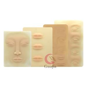 3D de maquillage permanent Tattoo formation pratique Faux peau Blank Lips yeux visage pour Microblading machine de tatouage débutant
