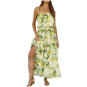 robes sexy été SAGACE Tropical Rain Forest Robe imprimée femmes Spaghetti Strap couverture longue plage habiller Drapée vacances nouvelle