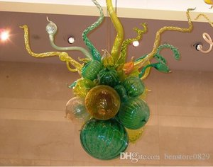 100% Hand Blown Art Glass Chandelier Luz vidro candelabro único concebido Artístico Lâmpadas pequeno e barato Chandelier Modern