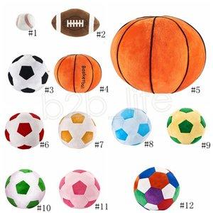 Imitation Football créatif Baseball Toy Sphère Cadeau Basketball Jouets Poupées Oreiller bébé garçon de bande dessinée en peluche sphérique pour enfants Nouveauté GGA Saxg