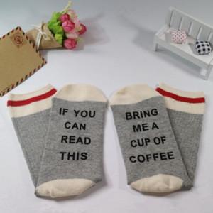 Sen Şarap Yumuşak Pamuk Moda Kadın Erkek Yenilik Sock Of Bu getir bana bardak Oku Can ise 2019 Yeni Unisex Çorap Kelimeler Baskılı