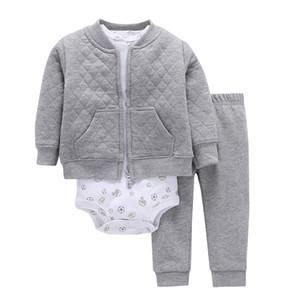 Baby Mädchen Outfit Säuglingsbekleidung Neugeborene Kleidung Kleinkind Set Unisex New Born Kostüm Frühling Herbst Anzug Jacke + Body + Hose J190427