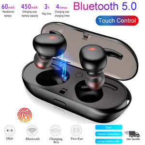 Bluetooth 5.0 Headset Touch TWS Wireless Headset Mini Earbuds Stereo Headphones
