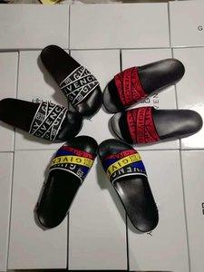 2020 new Fashion slide sandals slippers for men women WITH ORIGINAL 2019 Hot Designer flower printed unisex beach flip flops slipper123