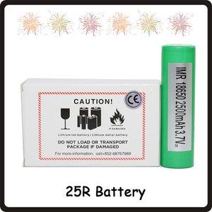 100 % 높은 품질 25R 18650 INR 배터리 2500mAh 3.7V 20A Rechargable 리튬 삼성 배터리 셀 페덱스
