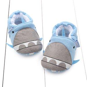 Осень Новый стиль мультфильм Pattern Хлопок трикотажные ткани мультфильм кит Не Позволить обувь малышей обувь детская