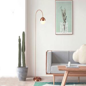 Postmodern Loft Creative LED Floor Lamp Rose Gold Black Optional Simple Bedroom Lighting Restaurant Station Standing Lamp