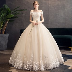 2020 Champagne Lace Beaded Wedding Dresses Sweetheart Cheap Sexy Ball Gown Bridal Dresses Vintage Wedding Gowns