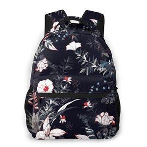 2020 azuis marinhos viagem Mochilas Escuro Tropical Floresta menina Backpack For Women Grande Capacidade Bolsa Escola Para Adolescente