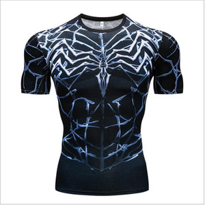 3d digital printing breathable T-shirt round neck loose short-sleeved men