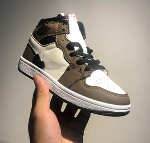 1s Travis Scotts New Born Baby reverso Swooshes Zapatillas de deporte Zapatos para niños pequeños Zapatos de baloncesto para niños pequeños Niño grande Zapatilla de deporte
