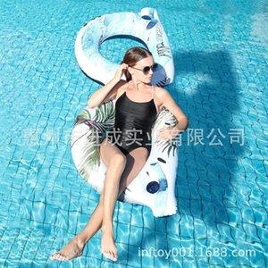 Anillo de la nadada natación inflable del PVC piscina flotante de los vidrios de Sun de la nadada Industria Anillo Piscina Partido Loungers