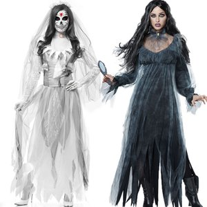 Halloween Kostüme für Frauen Ghost Bride Kleid Cosplay Horror Zombie Bride Ghost House Kostüm Bar Masquerade Zombie Kostüm