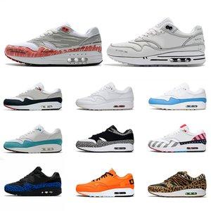 Nike Air Max 1 87 Homens Running Shoes aniversário de 87 disfarçado animal de carga 1s 87s Mens Trainers Womens Zapatos Sneakers Sports Tamanho 36-45 frete grátis