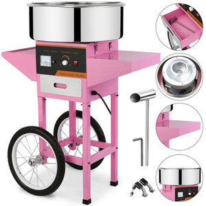 110 V 220 V Électrique Chauffage Cotton candy machineCommercial machine chariot type Cotton Candy Machine avec roues Candy floss machine