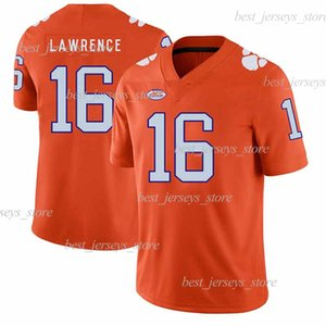 Confronta con Articoli simili Clemson Tigers football americano Jersey 16 Trevor Lawrence 9 Travis Etienne Jr. indossa NCAA Maglie di calcio
