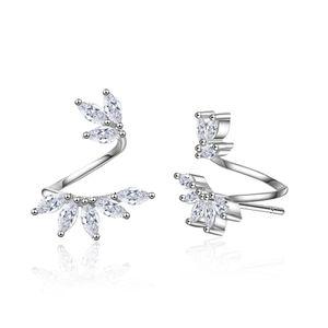 ED722 Stud earrings for women new Luxury white Zircon earrings rose gold silver plated Vintage geometric Jewelry wholesale