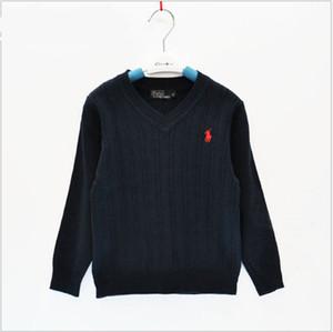 2019 Новые поступления Детские Мальчики Девочки Вязаные Пуловеры Марка одежды детей POLO свитер весна осень Дети Толстовка