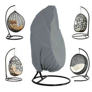 Patio al aire libre colgantes cubierta de la silla de Altas Prestaciones Cubiertas de huevo mecedora cubierta de polvo al aire libre Jardín LXY9 T200506