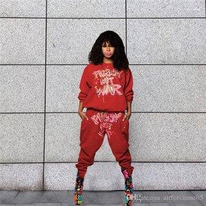 Streets Summer Style Designer 2pcs sport Costumes Mode Boyfriend style décontracté Femme Lettre Vêtements Femmes Imprimer