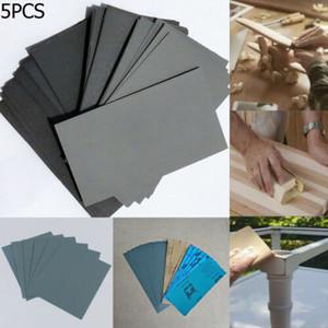 5PCS alta Grit asciutto bagnato carta vetrata 80-8000 graniglia abrasiva della sabbia polacca Carta per auto vernice forniture Vernice Auto Body Aut