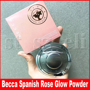 Becca spessoramento Perfector pelle pressato trucco Bronzers evidenziatori Blush spagnolo Rose Glow Viso Pigment Cipria