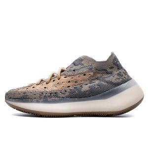 2020 Estrangeiro Kanye West Sapatilhas névoa cinza preto das mulheres dos homens executando Trainers atlético sapato Casual Sneakers Tamanho 36-46 Com Box