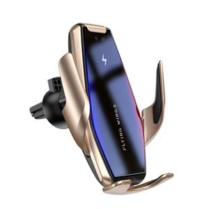 S7 automatico di bloccaggio Qi 15W Caricabatteria da auto veloce senza fili per Samsung S10 S9 S8 note10 9 Air Vent Mount Phone Holder