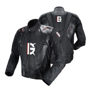 FANTASMA motociclismo Jacket PU Corrida Leather Jacket Body Armor Proteção Moto Motocross Off-road roupa Equipamentos de Proteção