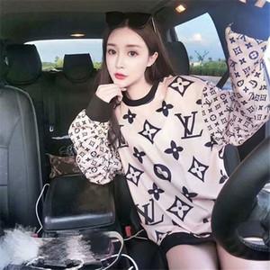 EAST Knittin 5ps / lot QN-68 nuovo 2020 donne vestito di sport di alta qualità primavera signora lettere maglione nuovo girocollo in pile S M L XL