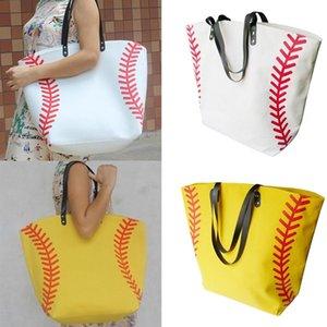 Borse borsa di tela di baseball della borsa del totalizzatore di sport Softball Fashion Bag Calcio Calcio Pallacanestro Cotton Canvas Tote Bag