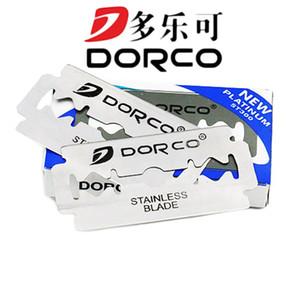 Erkekler Lames De Rasoir Barber Blade için Dorco 100pcs Traş Bıçağı Marka Paslanmaz Çelik Emniyet Traş Bıçağı için Tıraş Bıçak için Jilet