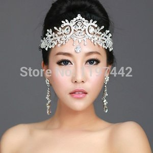 2019 Hot Sale Bridal Hairbands Crystal Headbands Women Hair Jewelry Wedding Accessories Crystal Tiaras And Crowns Head Chain T190620