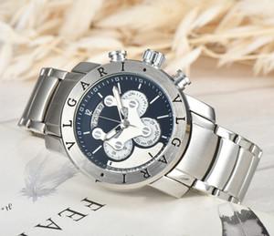 Uomini guarda a Designer Luxury Business completa in acciaio orologio al quarzo di marca casual impermeabile maschio militare dell'esercito Orologio da polso Relogio Masculino