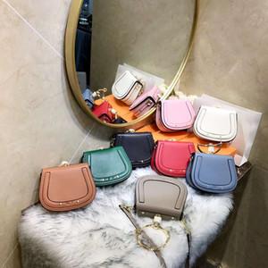 Новые сумки из натуральной кожи в европейском и американском модном контракте с металлическими кольцами в седле