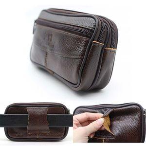 Marsupio Uomini in pelle Messenger Bag Coin Purse escursionismo Zipper Croce Body PU viaggio portatile Casual sacchetto del cellulare all'aperto
