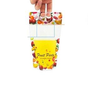 Pouches verre avec jus de paille Sacs Pochettes Frozip smoothie, refermable Fermeture à glissière pour les boissons chaudes froides