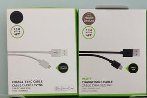 Date câble de synchronisation USB 1.2M 4FT Chargeur Câble Type C V8 Micro pour Samsung Galaxy S7 S8 S9 Note 4 7 HTC LG Téléphone avec Retail Package Haut Qualtiy