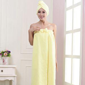 DHL Set Microfibra toalha de banho Cabelo seco de secagem rápida Lady toalha de banho chapéu touca de banho macio para homem senhora Turban Envoltório principal banho Tools