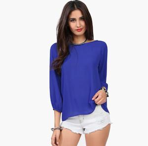 2019 weiblich neu hinter Quaste Bogen Chiffon Shirt T-Shirt Größe 6XL