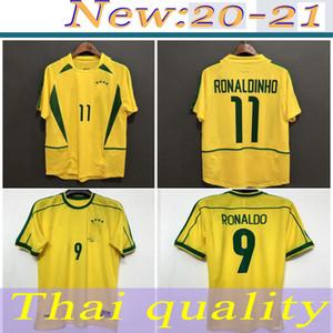 1994 브라질 유니폼 Ronaldo Carlos Romario Ronaldo Ronaldinho 2002 축구 유니폼 Camisa de Futtebol