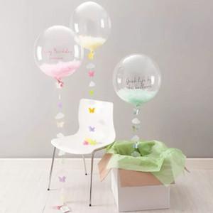 20 inç 24 inç 36 inç Bobo Şeffaf şeffaf Balonlar Evlilik Düğün Helyum Şişme Topları Çocuk Hediyeler Parti Dekor Şeffaf Balonlar