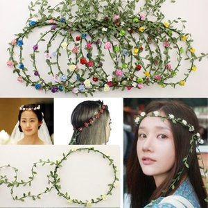 13 COLORS Bride Bohemian Flower Headband Festival Wedding Floral Garland Hair Band Headwear Inseruments for Women