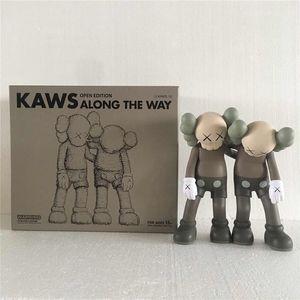 New 28CM 1.5kg Originalfake KAWS Companion The Along the way style for Original Box KAWS Action Figure model decorations toys gift