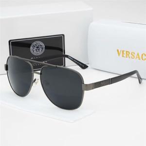 Lenti lusso- occhiali da sole di alta qualità in stile classico pilota di marca del progettista delle donne degli uomini di vetro di Sun Eyewear di vetro del metallo