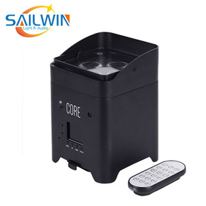 Sailwin Stage UPLIGHT 4 LED * 18W 6in1 RGBAW + UV Lithium Battery Powered partido do evento WIFI Wireless Mobile LED Light Par Para