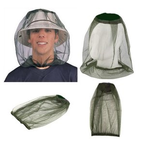 Anti-mosquito Cap Viagem Camping Hedging Leve Midge Mosquito Inseto Hat Bug Malha Cabeça Protetor Face Net DH0891
