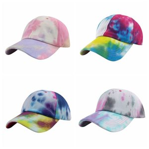 Защита от солнца Hat Путешествия Улица Пара Snapback Шляпы Gradient Tie-краситель бейсболке Мода Красочный Хип-хоп Snapback Cap на открытом воздухе VT1423