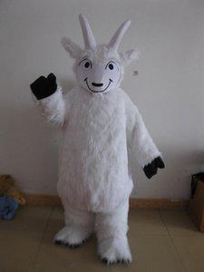 Профессиональные пользовательские White Goat костюм талисмана Характер Sheep Capricornio талисмана одежды Рождество Halloween Party Необычные Dress1