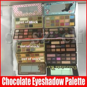 Nueva Ante el maquillaje blanco Barra de chocolate dulce de melocotón bombones de chocolate semi-dulce sombra de ojos Paleta de Oro 5 Diferentes tipos